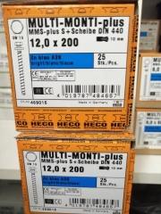 Betonschraube Betonanker Multi Monti-plus SS 12x200