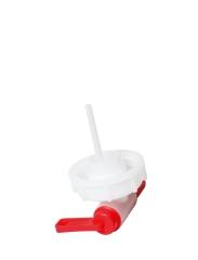 Auslaufhahn für Stapelkanister 5 l, rot/natur