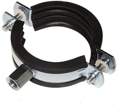 Rohrschelle Praktic- Gelenkrohrschellen mit 2 Verschlussschrauben  3 Zoll 87-92 mm