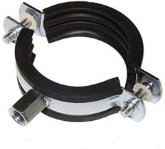 Rohrschelle Praktic- Gelenkrohrschellen mit 2 Verschlussschrauben  4 Zoll 103-116 mm